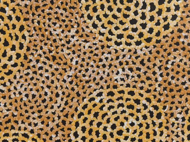 Ngalyarrpa Jukurrpa (Sandhills Dreaming) Detail - Vanessa Nampijinpa Brown, Warlukurlangu Artists of Yuendumu