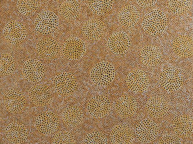 Ngalyarrpa Jukurrpa (Sandhills Dreaming) - Vanessa Nampijinpa Brown, Warlukurlangu Artists of Yuendumu