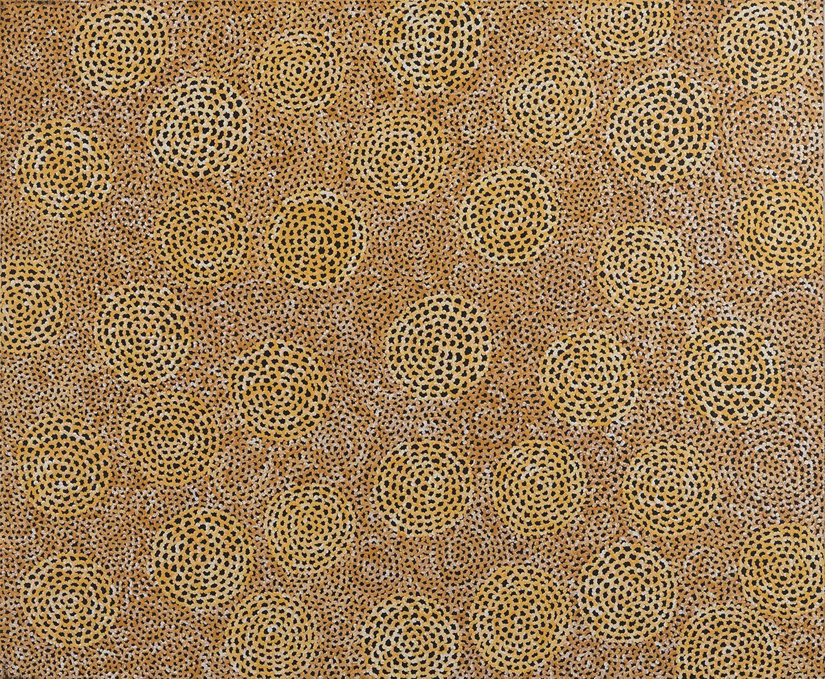 Ngalyarrpa Jukrrpa (Sandhills Dreaming) - Vanessa Nampijinpa Brown, Warlukurlangu Artists of Yuendumu