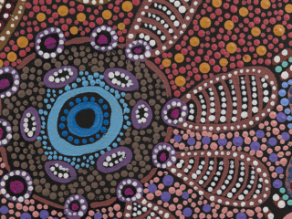 Witchetty Grub Dreaming Detail - Jennifer Napaljarri Lewis, Warlukurlangu Artists of Yuendumu